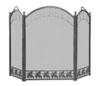 Экран каминный C31206AGK (черн. с ант.лат.)