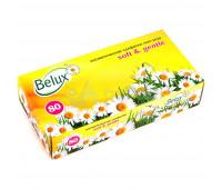 Косметические салфетки бумажные белые BELUX 2сл, 80 шт.