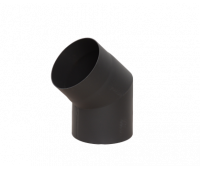 Отвод LAVA черный 45° , 2 мм 150д