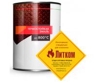 Краска термостойкая (банка 0,8 кг) Серебро ELCON