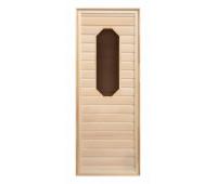 Дверь липа, восьмиугольное стекло (коробка осина) 1900х700